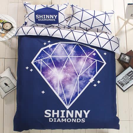 【生活提案】大版特色柔絲絨單人三件式被套床包組-藝想星空