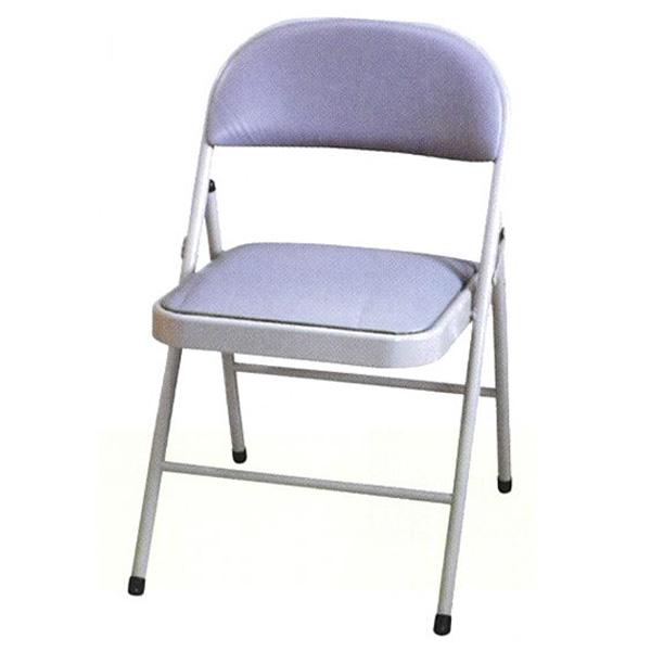 ~百樂購~H型橋牌椅^(灰皮^) KHST156~1