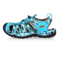 (女) SOFO 護指溯溪鞋-拖鞋 休閒涼鞋 海邊 海灘 戲水 迷彩水藍黑