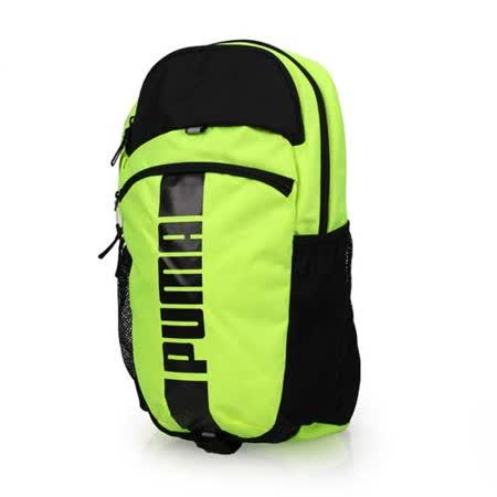 PUMA DECK後背包-15吋筆電 雙肩包 旅行包 電腦包 螢光黃黑 F
