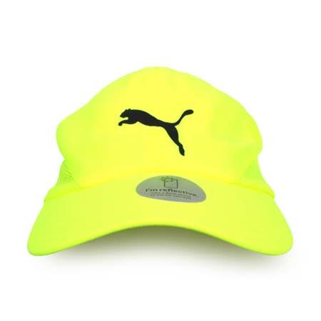 PUMA 慢跑系列棒球帽-帽子 鴨舌帽 路跑 登山 防曬 螢光黃黑 F