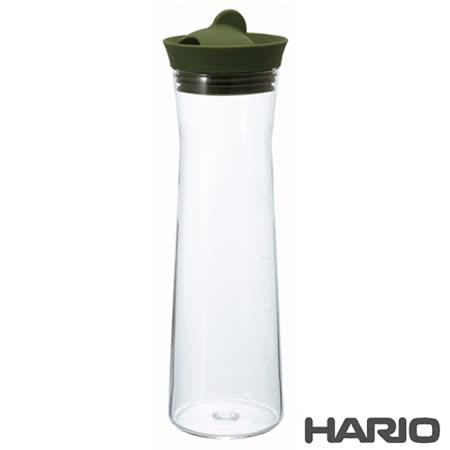 日本製造HARIO 矽膠玻璃冷水瓶冷水壺-綠色1000ML (HAR-WJ-10)