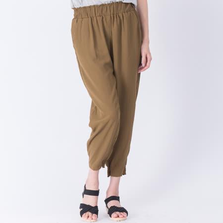 【Stoney.ax】韓版舒適透氣涼爽鬆緊口袋款兩穿縮口褲-綠色