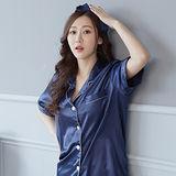 Wonderland ST1602-3俏甜變化居家休閒衣褲組(藍)