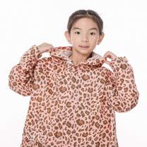 【rainstory】粉紅豹紋兒童連身雨衣