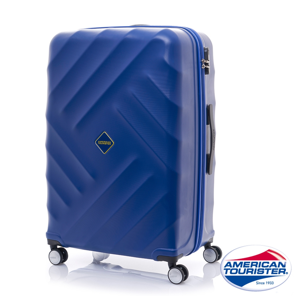 AT美國旅行者 24吋Gravity重力系列防刮飛機輪TSA行李箱(藍)