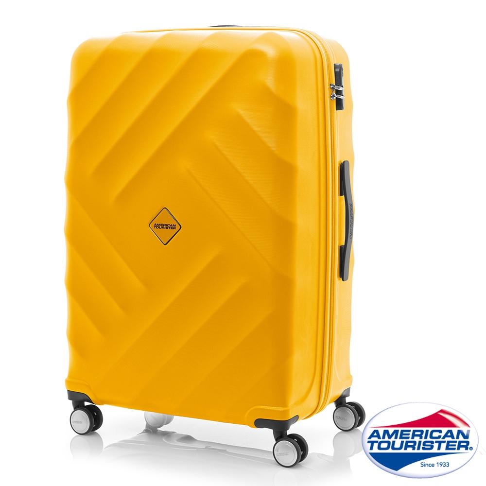 AT美國旅行者 28吋Gravity重力系列防刮飛機輪TSA行李箱(黃)