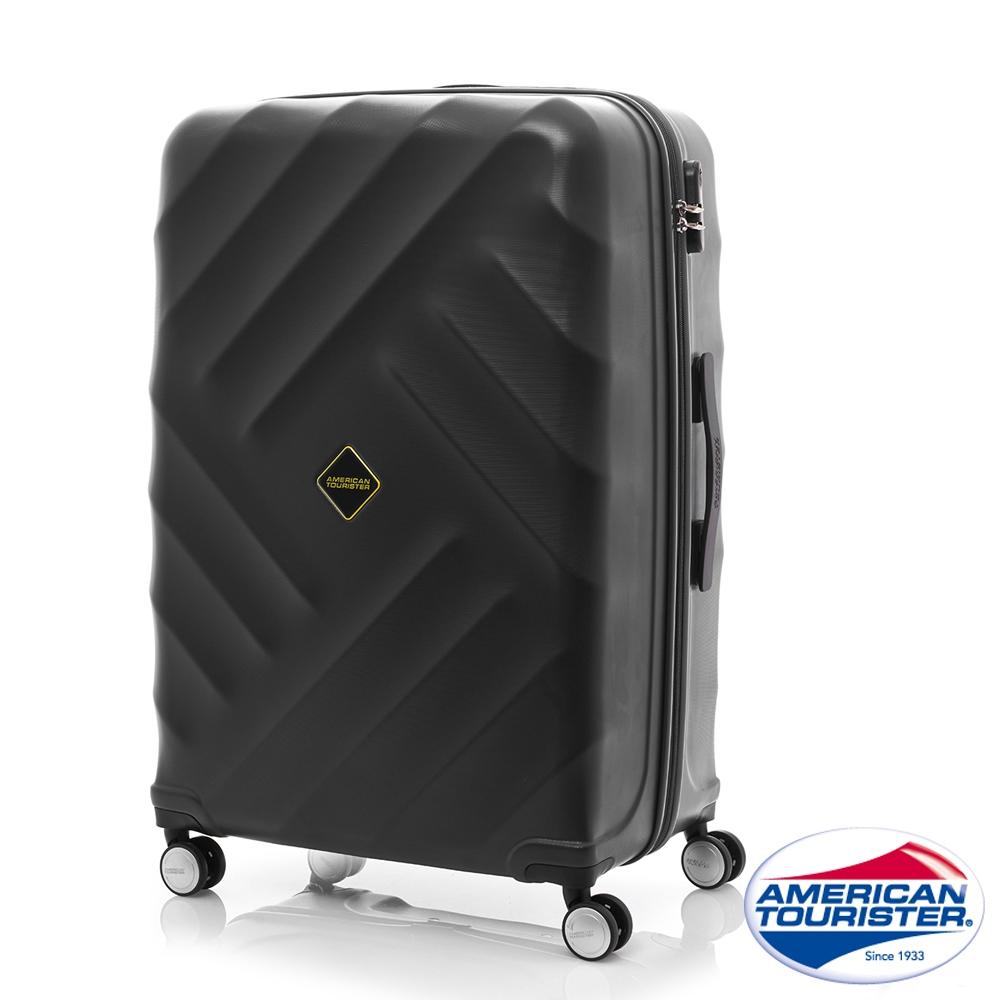 AT美國旅行者 24吋Gravity重力系列防刮飛機輪TSA行李箱(黑)