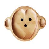 日本PETITS ET MAMAN 造型木質餐盤-猴子造型(L)