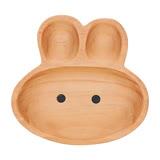 日本PETITS ET MAMAN 造型木質餐盤-小兔子造型(L)
