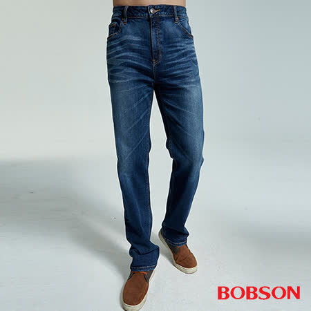 BOBSON  男款大彈力中直筒褲(1830-53)