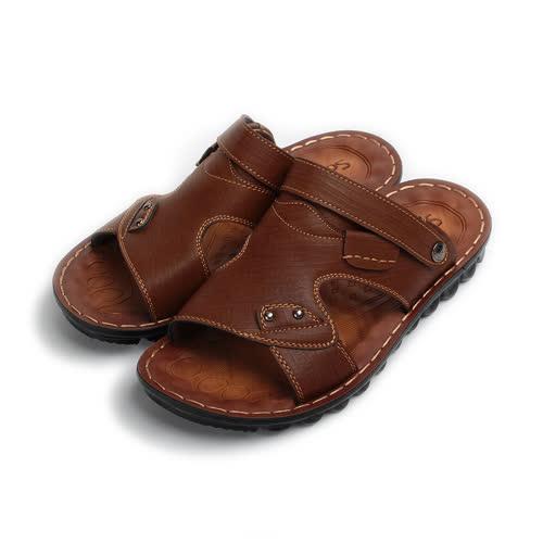 (男) SARTORI 木紋男士涼拖鞋 棕 男鞋 鞋全家福