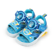 (小童) 救援小英雄 POLI波力電燈涼鞋 藍 童鞋 鞋全家福
