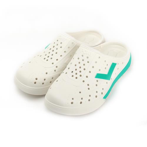 (男) PONY 防水洞洞鞋 白綠 72U1SA92GN 男鞋 鞋全家福