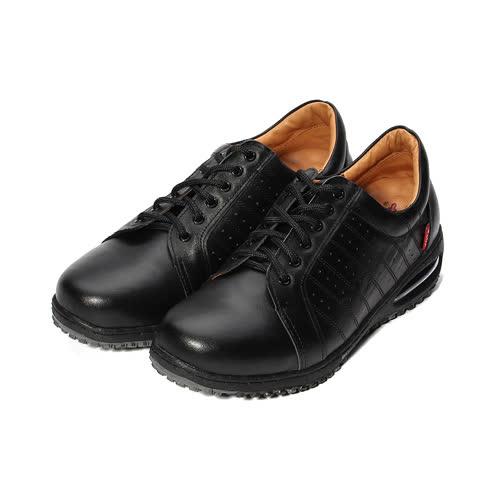 (男) ZOBR 真皮雙氣墊休閒鞋 黑 男鞋 鞋全家福