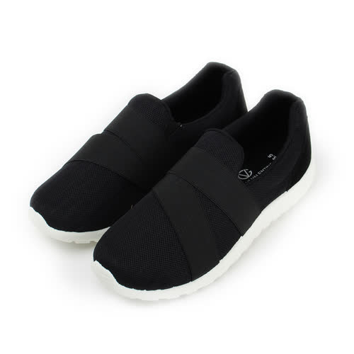 (男) GIOVANNI VALENTINO 韓版繃帶鞋 黑 男鞋 鞋全家福
