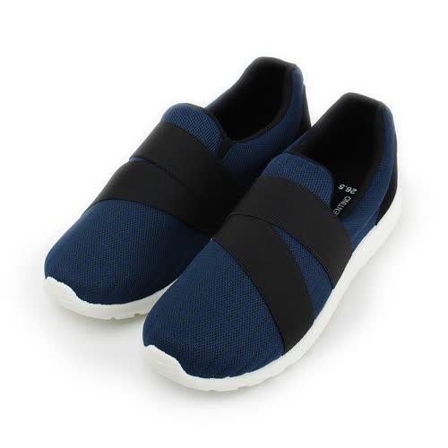 (男) GIOVANNI VALENTINO 韓版繃帶鞋 藍 男鞋 鞋全家福