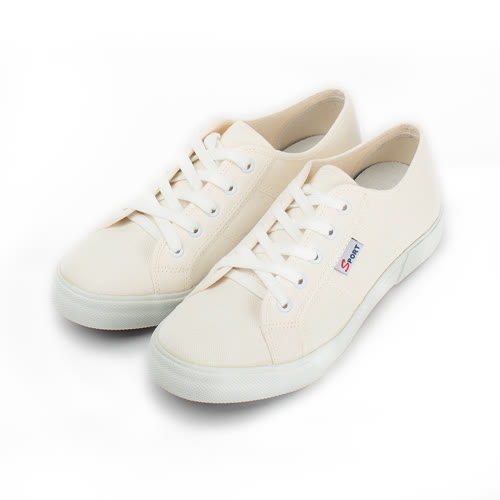 (女) GIOVANNI VALENTINO 經典素面五孔休閒鞋 白 女鞋 鞋全家福