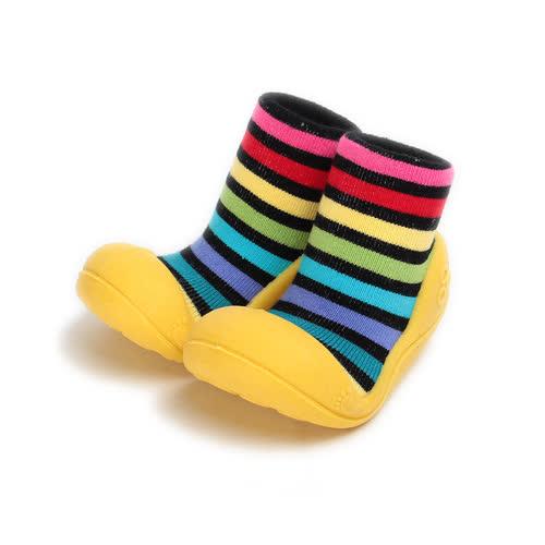 小童  CONNIFE 襪套型學步鞋 黃 童鞋 鞋全家福