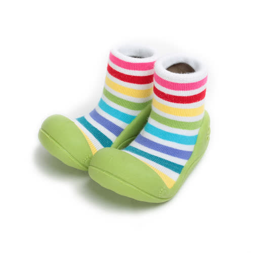 ^(小童^) CONNIFE 襪套型學步鞋 綠 童鞋 鞋全家福