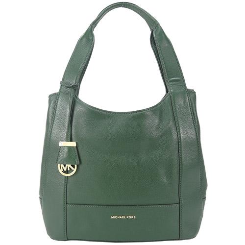 MICHAEL KORS MARLON 牛皮肩背包(綠)