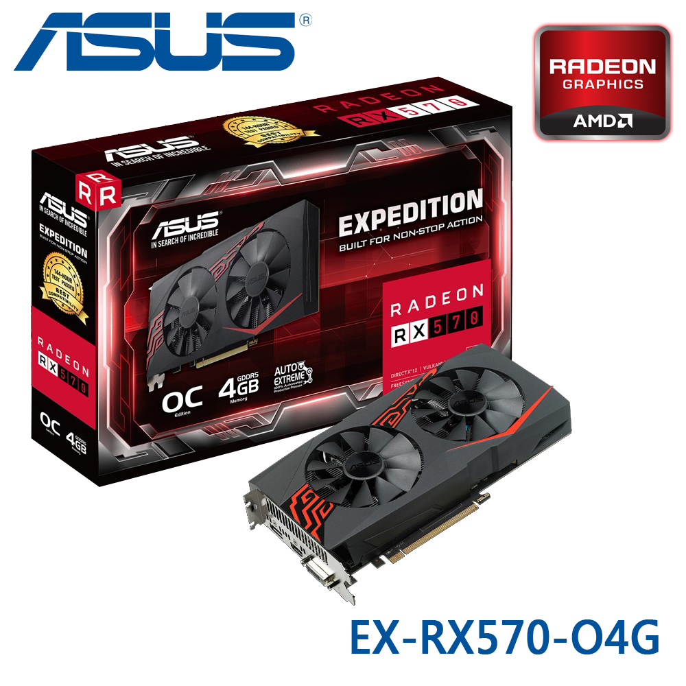 ASUS 華碩 EX-RX570-O4G 顯示卡