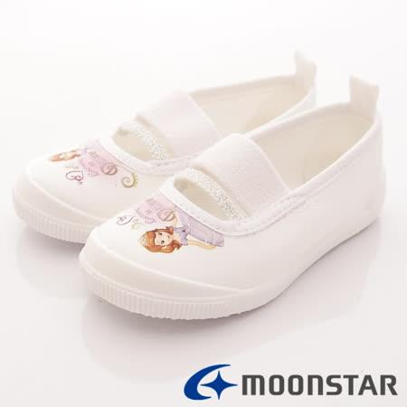 日本Carrot機能童鞋-日本製蘇菲亞室內鞋-NS011白-(14cm-19cm)