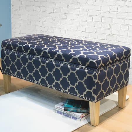 漢妮Hampton亞維斯儲物長凳-藍花