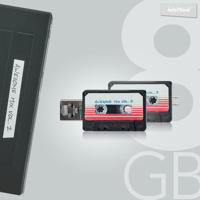 InfoThink 星際異攻隊 - 錄音帶OTG雙頭隨身碟8GB
