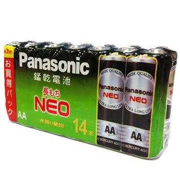 ★2件超值組★國際牌 黑錳乾電池3號 14入/組