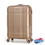 AT美國旅行者 22吋Ventura立體方格四輪拉桿TSA硬殼行李箱(香檳金)