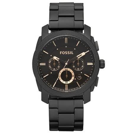 FOSSIL 絕讚霸氣視覺三眼計時腕錶-FS4682/45mm