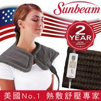 美國 Sunbeam 電熱披肩-XL加大款+瞬熱保暖墊
