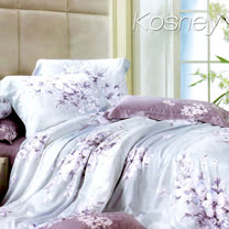《KOSNEY 夢想花語》雙人100%天絲TENCEL四件式兩用被床包組