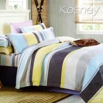 《KOSNEY 比埃爾塔》加大100%天絲TENCEL四件式兩用被床包組