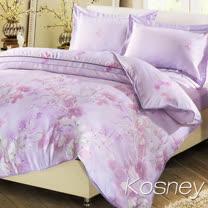 《KOSNEY 梵花共舞》雙人100%天絲TENCEL四件式兩用被床包組