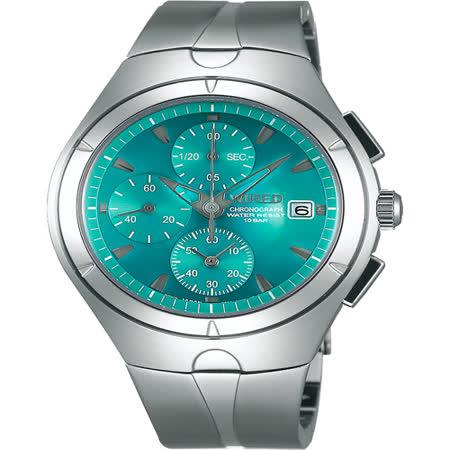 WIRED 太空系列計時碼錶-藍綠/41mm 7T92-X272B(AF8U23X1) 原廠公司貨