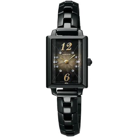 WIRED 精緻小巧神秘之光系列女腕錶(IP黑/15mm) 1N01-0PY1SD
