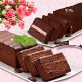 【艾波索】巧克力黑金磚18公分+法式夢幻絲綢巧克力蛋糕-含運