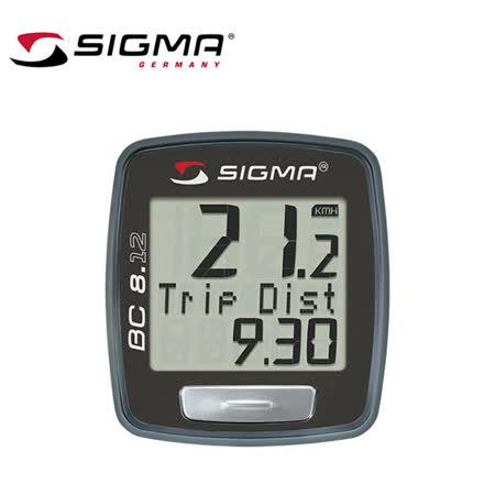 SIGMA BC 8.12 自行車多功能有線電腦碼錶