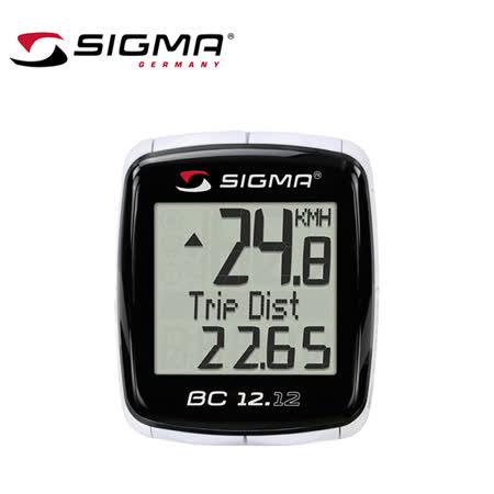 SIGMA BC 12.12 自行車多功能有線電腦碼錶