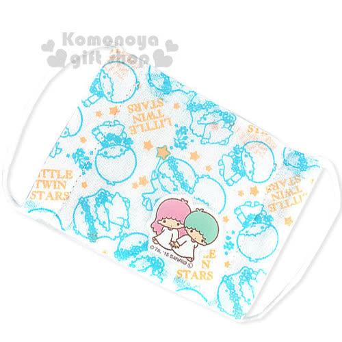 〔小禮堂〕雙子星 兒童平面紗布口罩~白.花圈.藍線條~感冒對策用品
