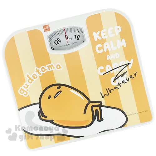 〔小禮堂〕蛋黃哥 體重計~黃橘.條紋.躺姿翹腳~輕鬆維持身材
