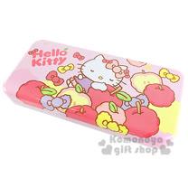 〔小禮堂〕Hello Kitty 鐵製雙層筆盒《粉.蘋果.蝴蝶結》增添學童學習樂趣