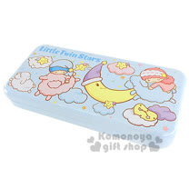 〔小禮堂〕雙子星 鐵製雙層筆盒《藍.星星.月亮.雲》增添學童學習樂趣
