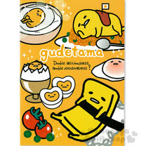 〔小禮堂〕蛋黃哥 筆記本《橘.壽司.炒飯.食物滿版.25k》橫條紋內頁