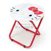 〔小禮堂〕Hello Kitty 折疊椅《紅白.大臉.圓型》可折疊收納.春夏野餐系列