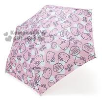 〔小禮堂〕Hello Kitty 頭型柄折疊雨陽傘《粉.大臉.小熊.點點》