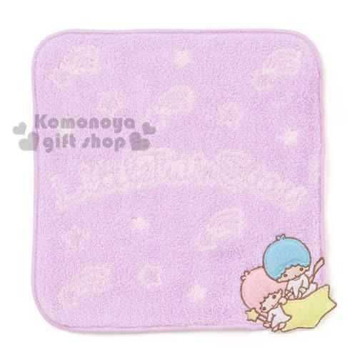 〔小禮堂〕雙子星 圓角小方巾~紫.星星.20x20cm~