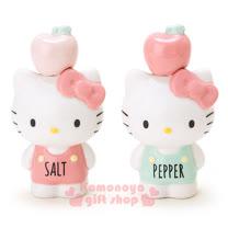 〔小禮堂〕Hello Kitty 造型陶瓷調味罐《2入.粉/綠.蘋果.站姿》新生活系列